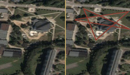 Church inside a Pentagram?